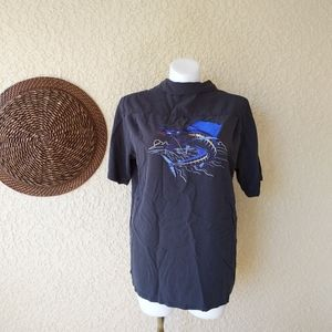 Columbia embroiderd River lodge button down shirt